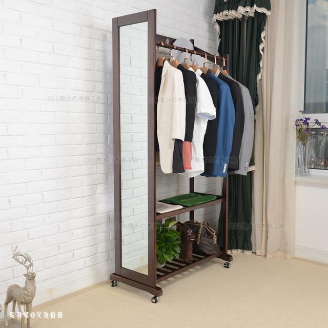 Full Length Mirror In Living Room Black Leather Sectional Ideas Multifunction Wood Floor Dressing Hangers Versatile Coat Rack Bedroom Without Lens