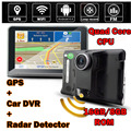 "Wifi Android 4.4 Vehicle Car DVR Camera GPS Navigation Radar Detector DashCam 7"" Screen Camcorder Full HD1080P 16GB ROM FM"