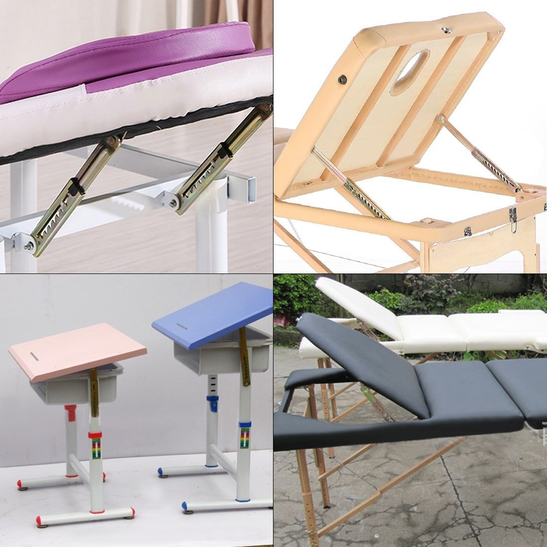 1 Pair Angle Lifting Rod Desk 7 Gear Adjusting Hinge Angle Hinge with Bracket in Cabinet Hinges from Home Improvement