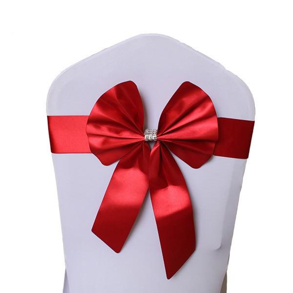 Noeud de Chaise Mariage Sashes узел бант на свадебный стул галстук украшение Stuhl Schleifen Hochzeit ssarfa Fajin Stoel Sjerp - Цвет: 002