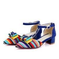 2017 Top Real Medium(b,m) Sapato Feminino Ladies Shoes Big Size 34 43 Bottom Shoes Sandals Ladies Lady Low Heel Women C 12