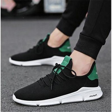 MVP BOY 2019 New Spring Summer Men Mesh Casual Shoes Breathable Knitted Fly weaving Flats SHOES Male Fashion Footwear Black