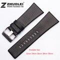 22 mm 24 mm 26 mm 28 mm 30 mm homens relógio preto de aço inoxidável pulseira de couro DZ1116