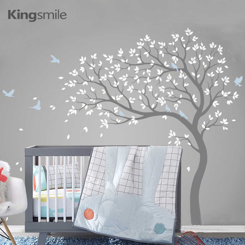 340d3ce2ca7a Large Tree Wall Sticker Branches Birds Removable Vinyl Nursery Art Decals  PVC Poster Wall Stickers for