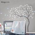 Большие ветки дерева  настенные наклейки с птицами  декор для детской комнаты  съемные виниловые наклейки на стену  наклейки из ПВХ для детс...