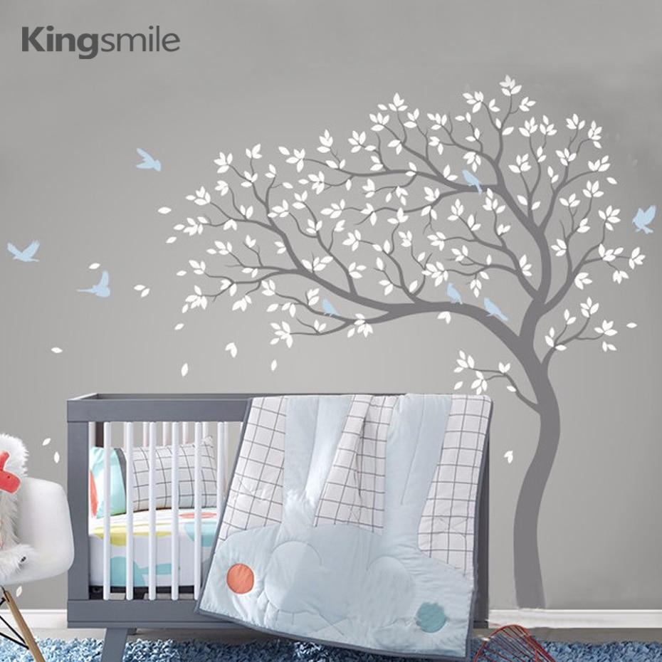 Boom Voor Babykamer.Wanddecoratie Babykamer Boom Muursticker Boom Roze Met Pandas