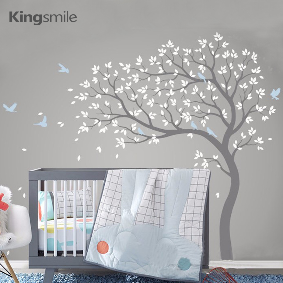 popular bird wall decalbuy cheap bird wall decal lots from china  - new huge nursery tree wall decals art branch birds vinyl stickers removablepvc poster sticker for