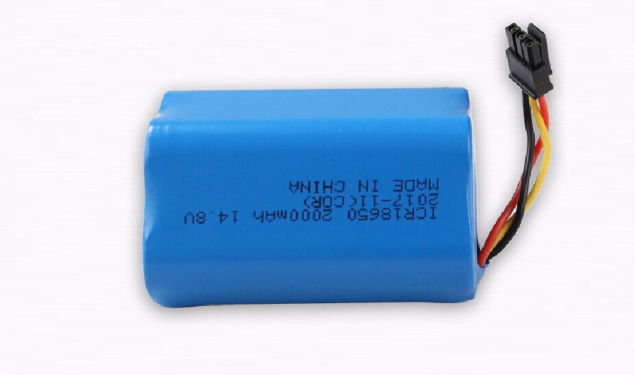 1 pc 2000 mah batterie au lithium pour robot aspirateur B6009