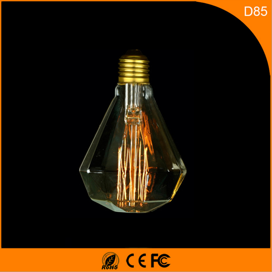 50Pcs 40W Vintage Design Edison Filament B22 E27 LED Bulb,D85 Energy Saving Decoration Lamp Replace  Incandescent Light AC220V 5pcs e27 led bulb 2w 4w 6w vintage cold white warm white edison lamp g45 led filament decorative bulb ac 220v 240v