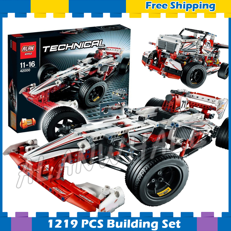 1219pcs Techinic 2in1 New F1 Grand Prix Racer 3366 Race Truck DIY Model Building Kit Blocks Gifts Kids Set Compatible With lego 760pcs techinic 2in1 new series