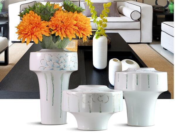 Beautifully european design home decor Porcelain Ceramic Vase Jar