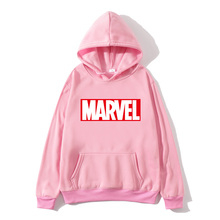 2019new brand Marvel hoodie ladies high quality long sleeve casual sweatshirt miracle print sportswear wome