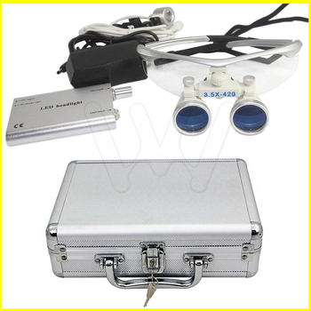 Metal case 2.5X/3.5X enlarger lens first time user surgical oral loupe dentist magnify glasses