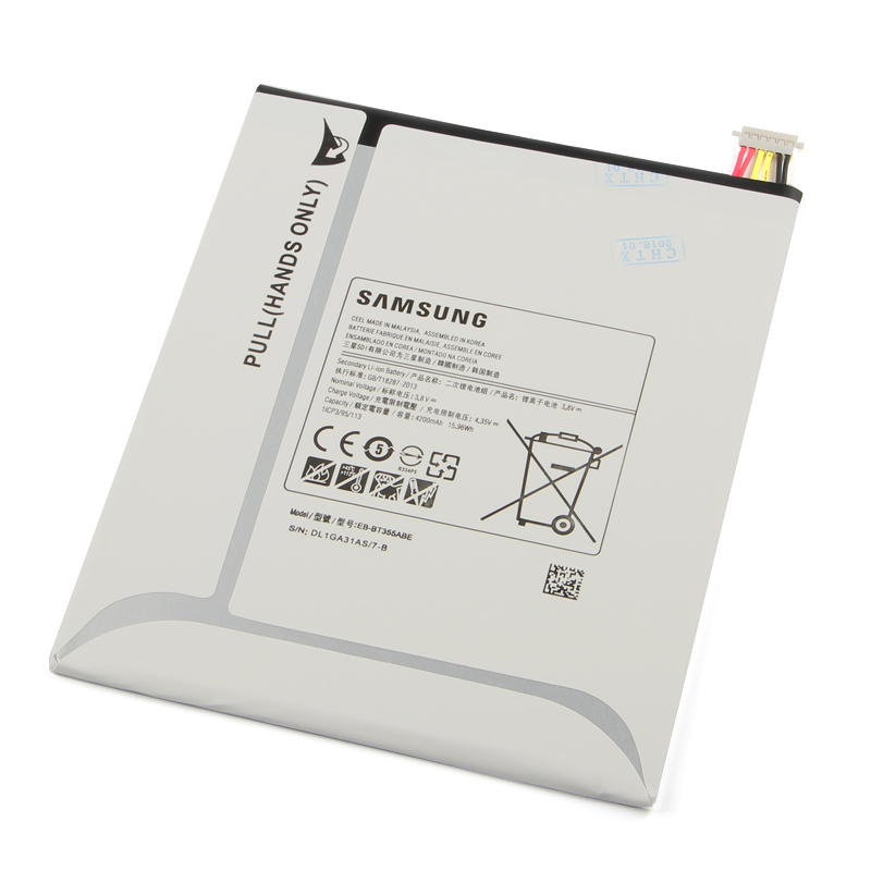 Original Samsung EB BT355ABE Battery For Samsung GALAXY Tab A 8 0 T355C GALAXY Tab5 SM T355 SM T350 SM P350 P355C 4200mAh in Mobile Phone Batteries from Cellphones Telecommunications