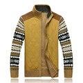 2016 новый зимний свитер цветочный узор стенд воротник кардиган сгущает теплый импортные одежда Blusa Masculina A3046