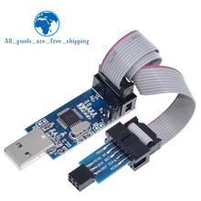 1 комплект USBASP USBISP AVR программист USB ATMEGA8 ATMEGA128 ATtiny/CAN/PWM 10Pin провод модуль DIY+ 10Pin до 6 Pin адаптер плата