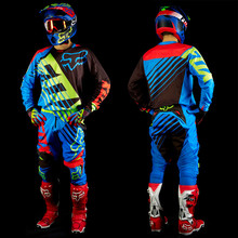 2017 Free shippingThe new cross-country venue suits Motocross Suit DH downhill riding clothes motorcycle clothing suit blue