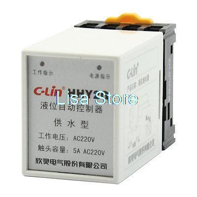 AC 220V 8 Pin Liquid Water Level Controller Floatless Sensor Relay w Socket liquid level relay 61 f g1 ote ac110 220 v