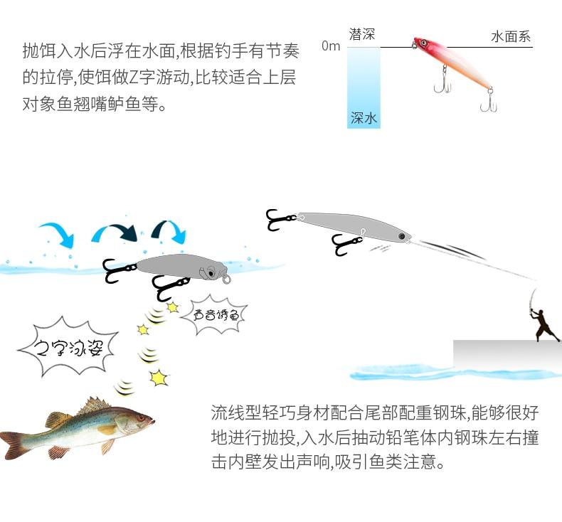 1 pçs tsurinoya isca de pesca lápis