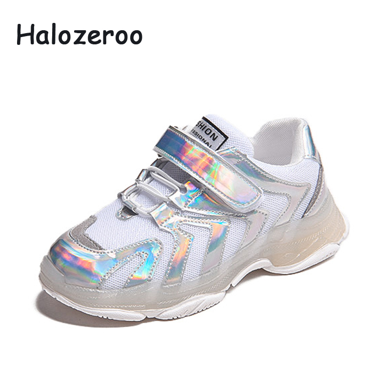 2019 New Kids Boys Girls Fashion Sneakers Children Students Mesh Sports Shoes