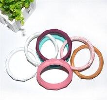 Happyfriends 1PCS Fashion Stylish Mommy Women Charm Wristband  Food Grade Silicone Baby Teether Bracelet