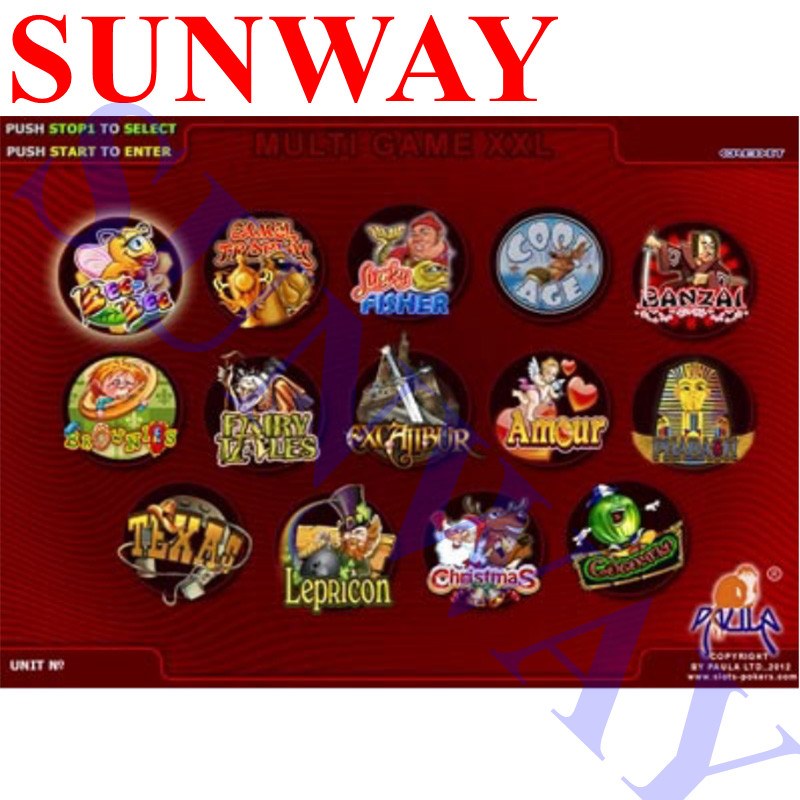 XXL 14 in 1 Casino Game Board 40 96 Red Gambling Arcade Games PCB for Coin