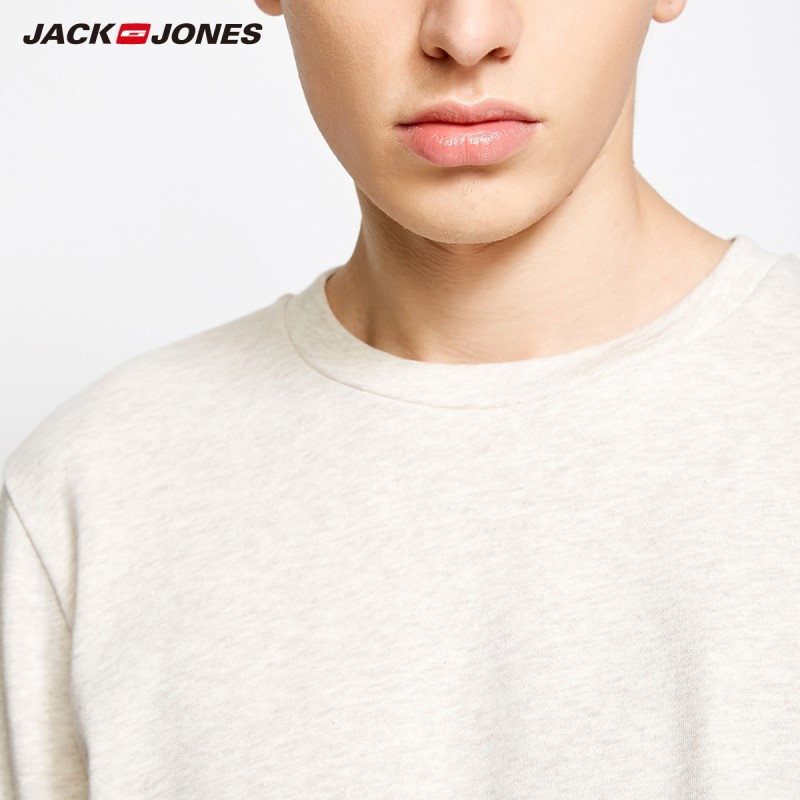 Image 4 - Jack Jones Men's Winter Knitted Cotton T shirt Sports Homewear Soft Warm 2019 New Brand Menswear 2183HE502-in T-Shirts from Men's Clothing