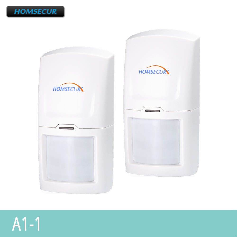 HOMSECUR 2PCS Wireless 433MHz PIR Motion Sensor For Home Alarm System A1-1HOMSECUR 2PCS Wireless 433MHz PIR Motion Sensor For Home Alarm System A1-1