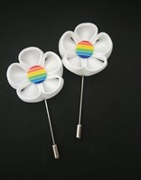pride rainbow jewelry,gay wedding party women & men's lapel flowers,white pink yelow orange blue red