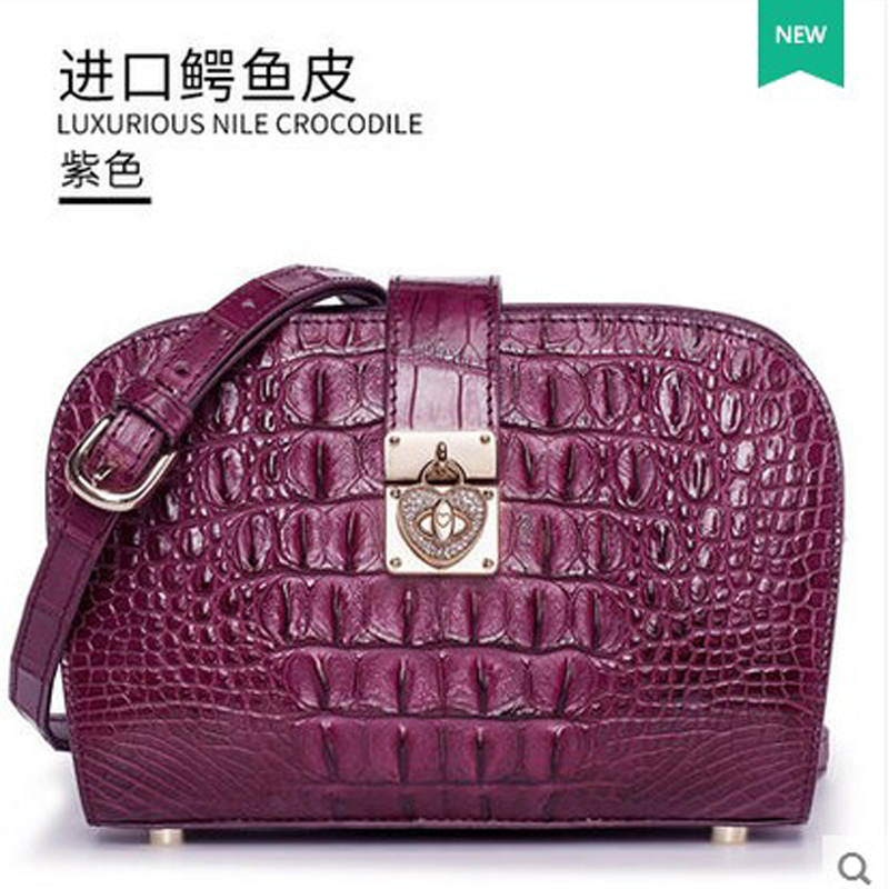 2018 gete new hot female crocodile leather handbag single shoulder bag women bag fashion