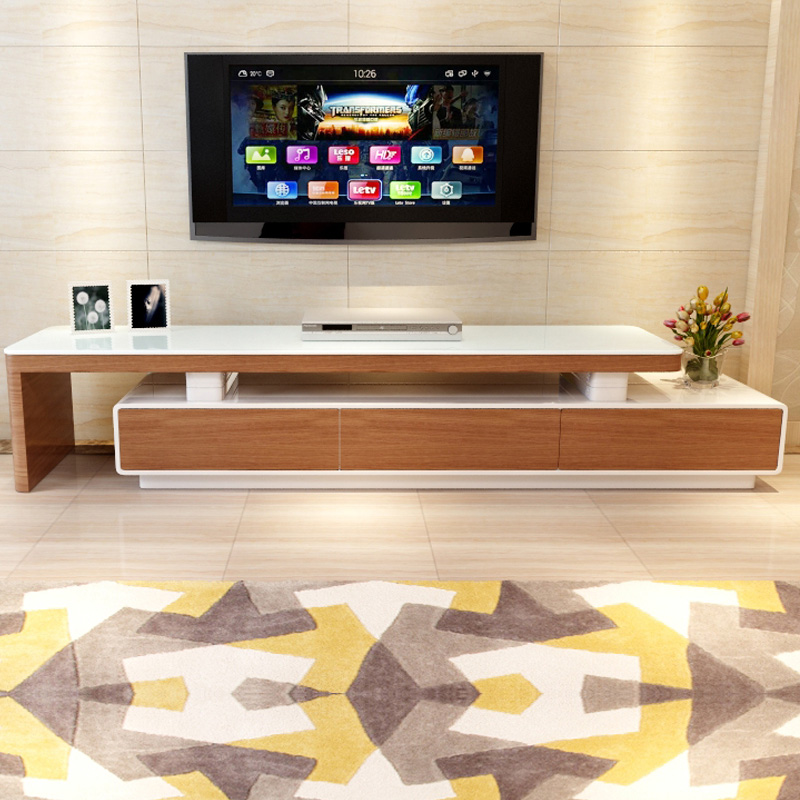 Small Coffee Tables B M: M Small Apartment Continental Retractable Glass Coffee