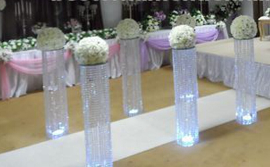 Wedding Decoration Acrylic Crystal Pillar Aisle Road Lead With Led Light  Table Centerpieces For Home Wedding Party In Party DIY Decorations From  Home ...