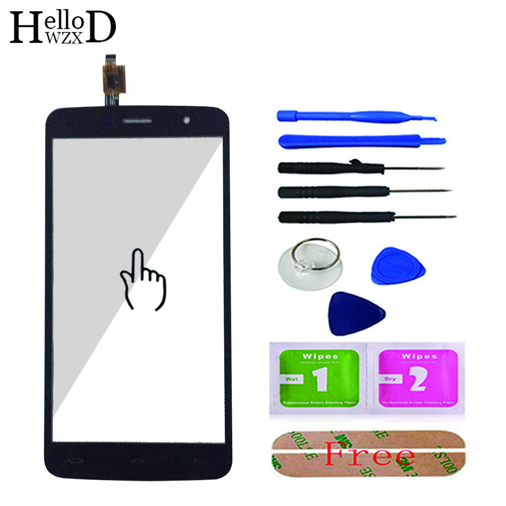 5.5inch Front Glass For HOMTOM HT17 HT 17 / HT17 Pro Touch Screen Glass Touchscreen Digitizer Panel Lens Sensor Tools Adhesive