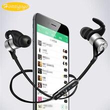 Honsigogo Esporte Sem Fio Fones de ouvido de Metal Super Bass Do Bluetooth Fones de Ouvido com Cancelamento de Ruído Mic para xiaomi iphone samsung