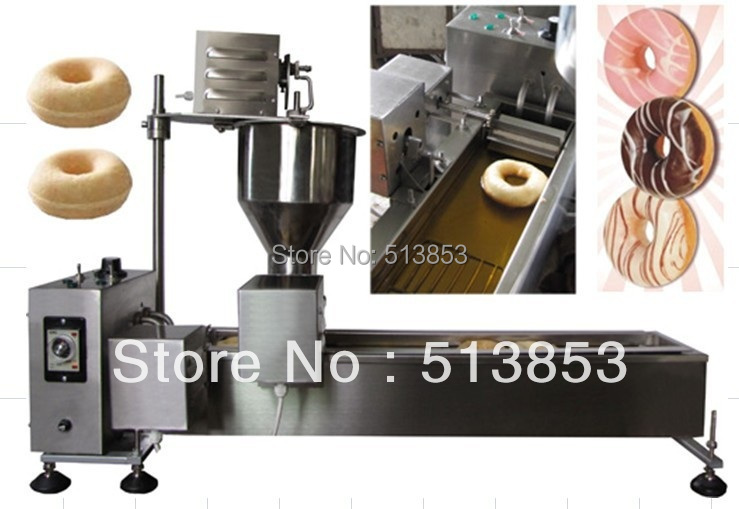 Free Shipping High quality Electric Automatic donut machine( GB-9TN) automatic donut making and frying machines with 3 mold free shipping