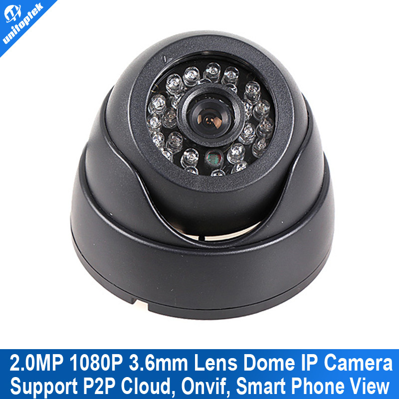 H.264 Mini Dome IP Camera 1080P HD Security Indoor CCTV Camera 2MP 1920*1080 IR-CUT Onvif P2P Support Phone Android IOS View
