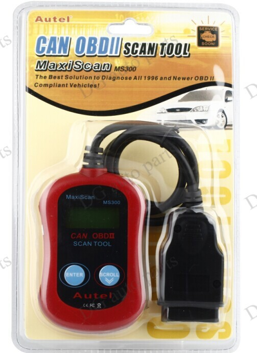 20sets/lot MS300 Car Fault Reader Code Sanner MS300 Universal Diagnostic Tools MS300 OBD2 Car Auto Engine Code Reader
