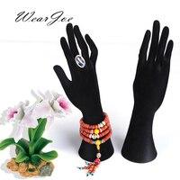 Velvet 6 8 26 8 Mannequin Arm Model Hanger Jewelry Display Stand Holder Ring Watch Pendant