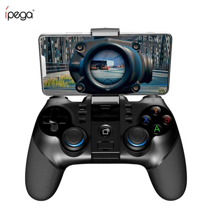 IPega 9156 9157 Bluetooth Gamepad soporte controlador de iPhone, Joystick Flexible con soporte de teléfono para Android iOS PC TV Box