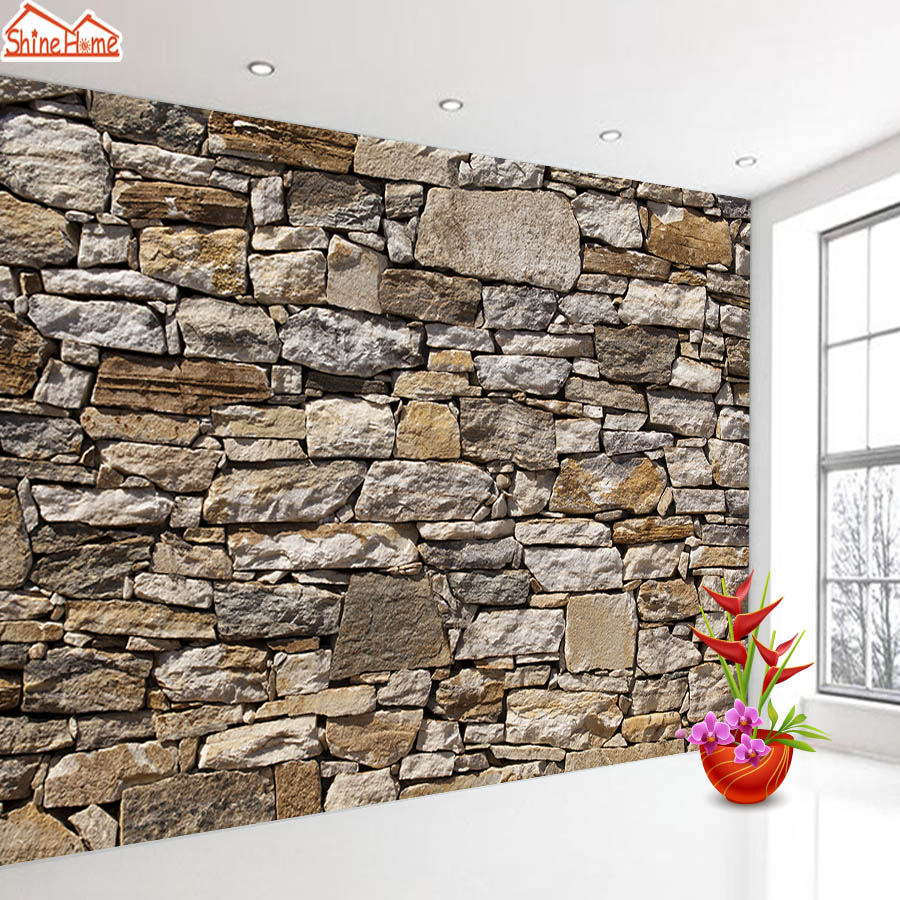 ShineHome-Home Decor Brick Stone Wallpapers For 3 D Walls Living Room Mural Rolls Wallpaper Wall Paper Cafe Shop Bar Decoration