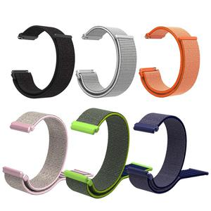 Image 1 - Nylon Loop Strap Sports Loop Nylon Watchband Breathable Absorbent Sweat absorbent For Pebble Time 1 2 Generation