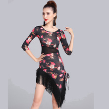 Envío Gratis 2017 sexy Latino danza vestido mujeres Niñas Flamengo salsa  Samba Tango traje competencia señora danza 73527c957faa8