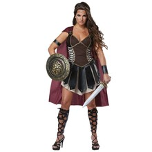 Adult Women Medieval Rome Zina Warrior Princess Costume Halloween Carnival Party Cosplay Roman Sparta Gladiator Dress