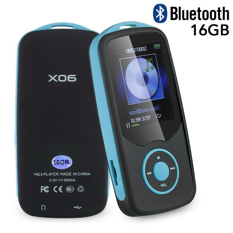 Original RUIZU X06 MP3 Player Bluetooth4.0 16GB TFT 1.8