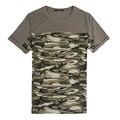 Dayifang estilo Camuflaje T-shirt de algodón para Hombres Ropa de marca Verano Hombres Camo Camiseta Remata camisetas hombre del Monopatín camiseta S048