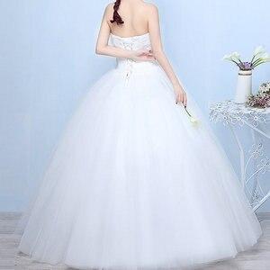 Image 3 - Gelinlik 2019 Robe De Mariage prenses Bling Bling lüks dantel beyaz topu cüppe gelinlikler Vestido De Noiva