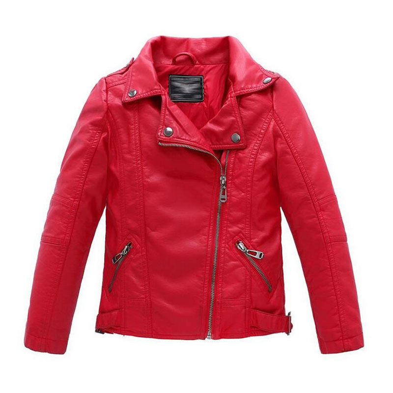 0536bf521 Baby Boys Girls Faux Leather Jacket Kids Clothes Coats Spring ...