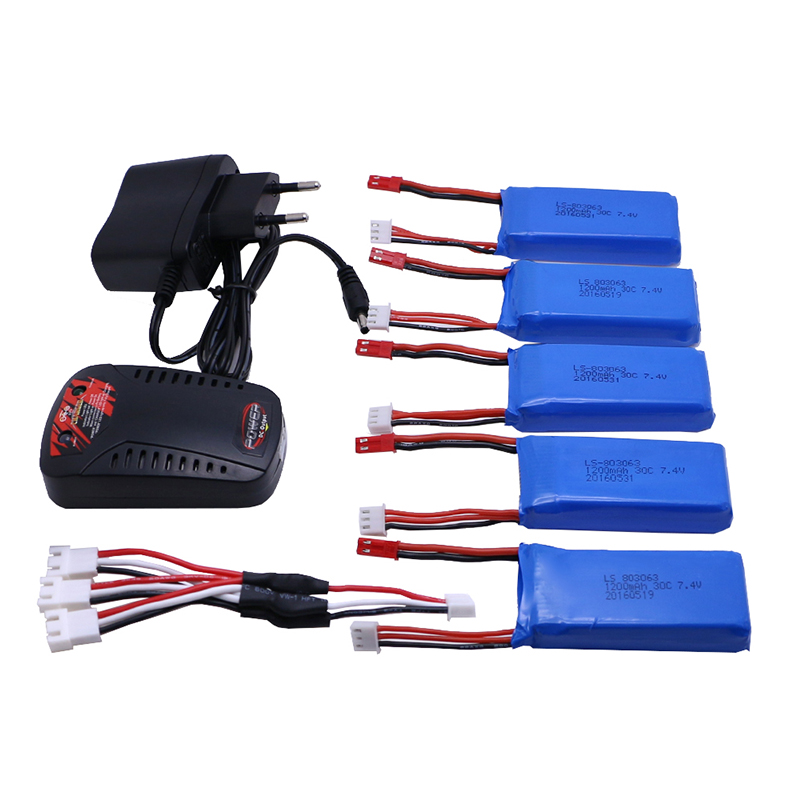 5PCS Batteria Lipo 7 4 V 1200 mah per V333 YiZhan Tarantula X6 WLTOYS V262 RC