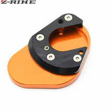 Motorcycle Aluminum Foot Side Stand Enlarger extension kickstand plate pad for KTM 125/200/390 DUKE 125 200 390