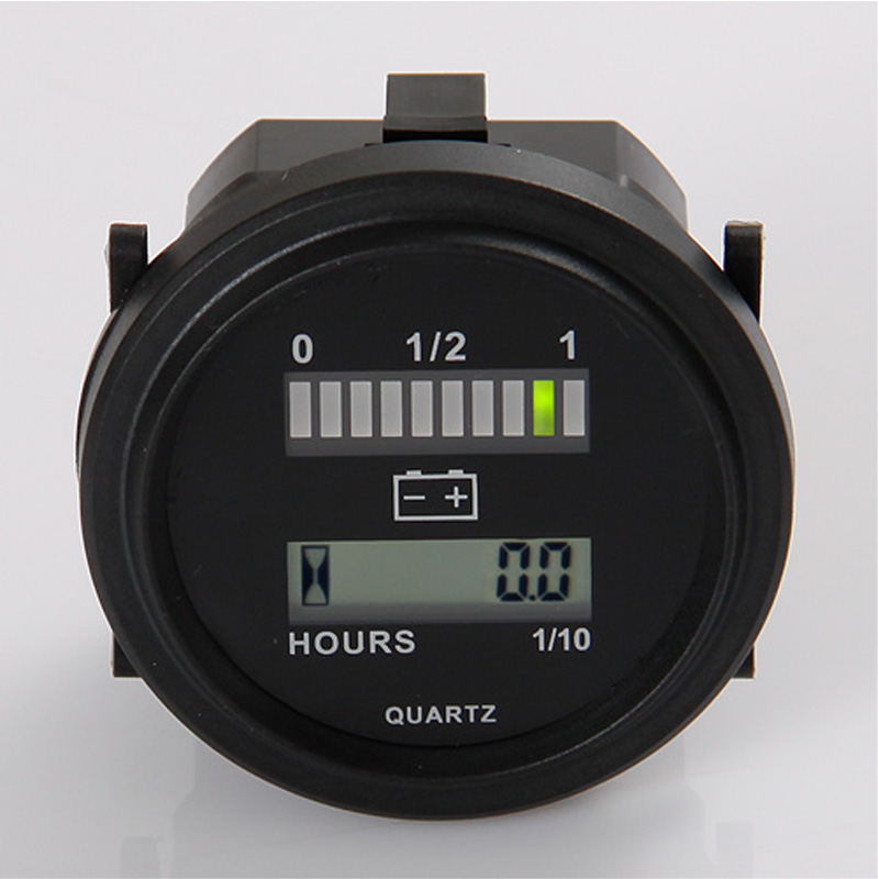 Battery Indicator QUARTZ LED Digital Hour Meter for DC Powered Unit 12V,24V,36V,48V,72V image